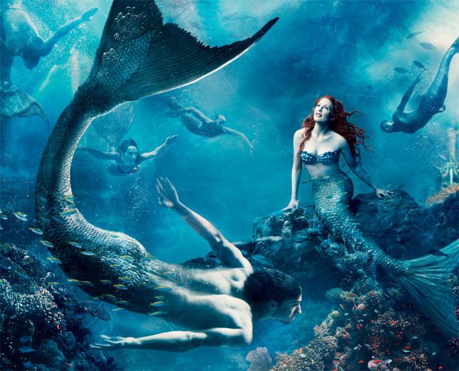 Julianne Moore as The Little Mermaid, Michael Phelps