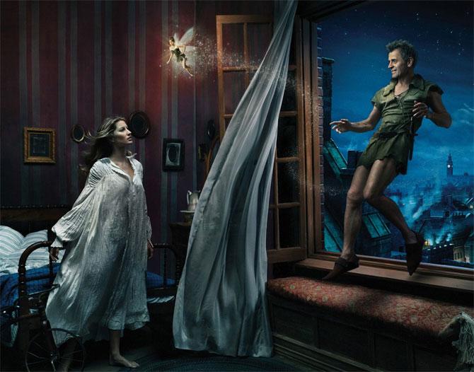 Gisele Bundchen as Wendy, Tina Fey as Tinker Bell, Mikhail Baryshnikov as Peter Pan